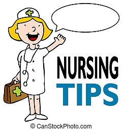 enfermeira, equipamento médico