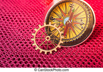 engenharia, engrenagem, compasso, roda, conceito