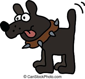 engraçado, cachorro preto