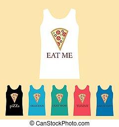 engraçado, camisa, pizza