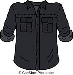 engraçado, camisa preta