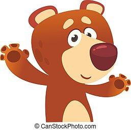 engraçado, caricatura, bear.