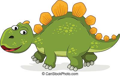 engraçado, caricatura, dinossauro