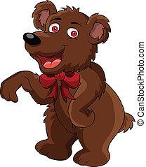 engraçado, caricatura, urso