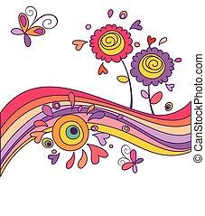 engraçado, cartão, arco íris