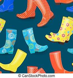 engraçado, diferente, seamless, textura, borracha, cobrança, botas