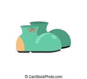 engraçado, sapatos, isolated., palhaço, botas, fundo, branca
