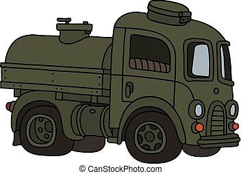 engraçado, tanque, antigas, militar, caminhão