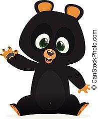 engraçado, urso, caricatura, ilustração