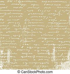 envelhecimento, manuscrito, papel marrom, ilustração, vetorial