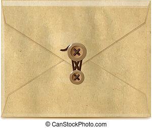 envelope, papel, antigas