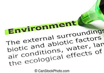 'environment', destacado, verde