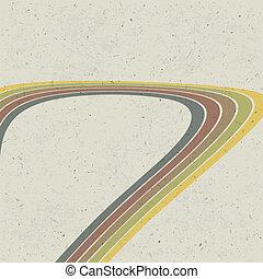 eps10, abstratos, linhas, experiência., vetorial, retro