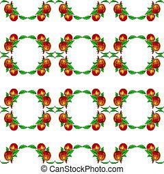 eps10, formato, apricots., seamless, pêssegos, vetorial, fundo, ou
