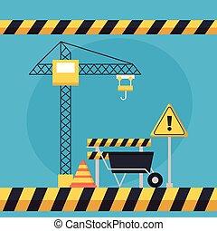 equipamento, construção, ícone
