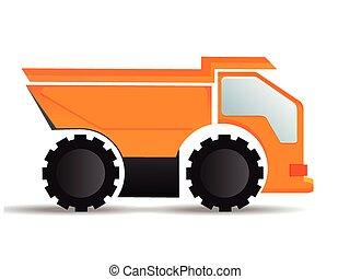 equipamento, construção, truck.