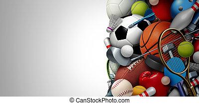 equipamento, esportes, fundo