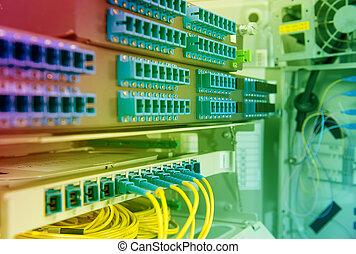 equipamento, fibra, tecnologia, centro, ótico
