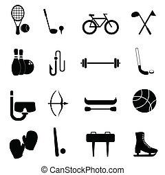 equipamento, lazer, esportes