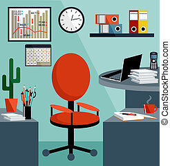 equipamento negócio, objects., escritório, coisas, local trabalho