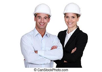 equipe, engenheiros