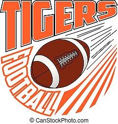 equipe futebol, tigres, desenho