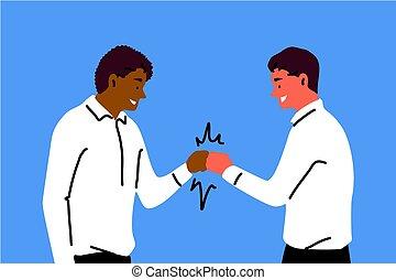 equipe, sucesso, amizade, congatulation, saudação, conceito