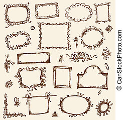 esboço, seu, bordas, desenho, mão, desenho