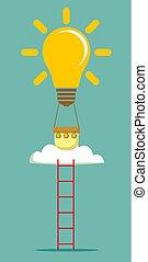 escada, balloon, idéia