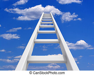 escada, céu
