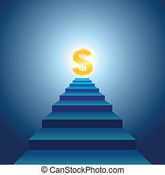 escadas, sucesso financeiro