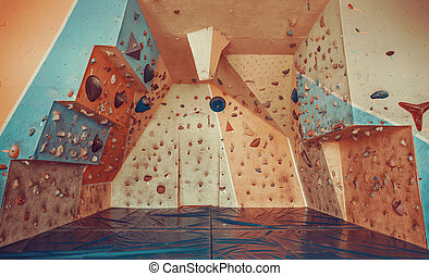 escalando, ginásio