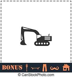escavador, ícone, apartamento