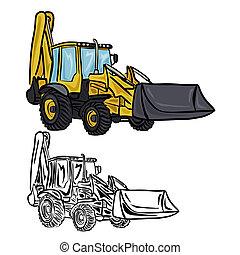 escavador, carregador