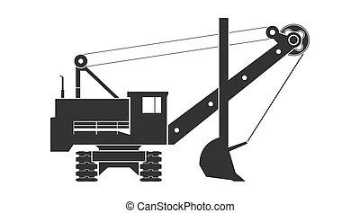 escavador, mineração