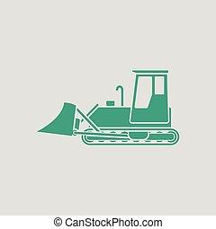 escavadora, construção, ícone