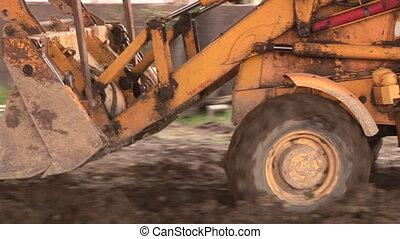 escavadora, local construção