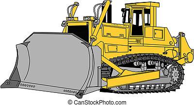 escavadora, vetorial