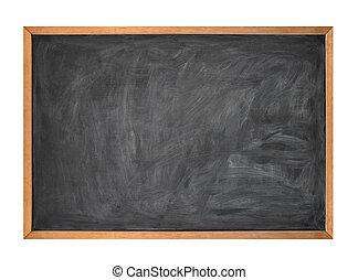 escola, giz, pretas, tábua, w, em branco
