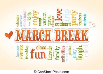 escola, março, primavera, árvore, partir, vetorial, palavra, tag, bolha, nuvem