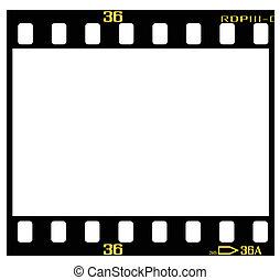 escorregar, quadro, película