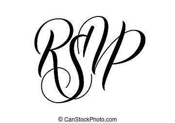 escova, rsvp, modernos, caligrafia