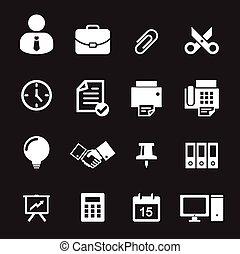 escritório, ícone