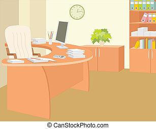 escritório, director.