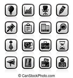 escritório negócio, ícones