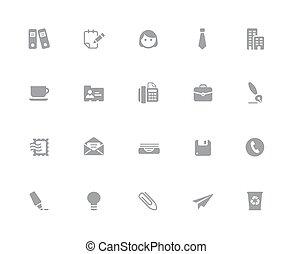 //, escritório, negócio, &, série, ícones, 32px, branca