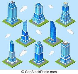 escritório, planificação, elemento, indústria