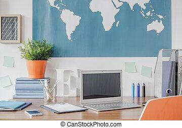 escrivaninha, laptop
