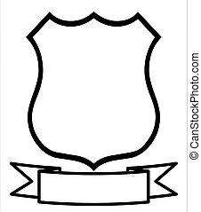 escudo, vazio, em branco