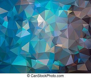 escuro azul, abstratos, polygonal, fundo